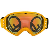 Gold Metallic Ski Goggles by Fendi