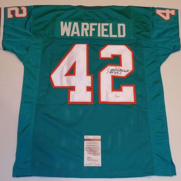 Paul Warfield Signed Autographed Miami Dolphins Football Jersey (JSA COA)
