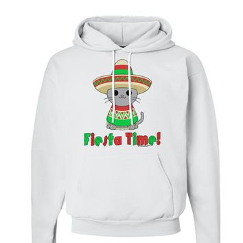 Fiesta Time - Cute Sombrero Cat Hoodie Sweatshirt  by TooLoud