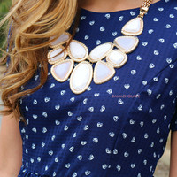 Calling You Home White Stone Statement Necklace