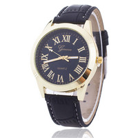 Fashion Mens Black Leather Strap Watch  Boys Casual Sports Watches +  Beautiful Gift Box