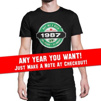 30th Birthday Gift For Men and Women born in 2017 - Limited Edition 1987 Aged To Perfection Mostly Original Parts T-shirt Gift idea. BB-1987