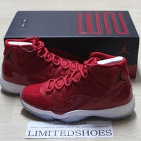 NIKE AIR JORDAN 11 XI RETRO WIN LIKE 96 GYM RED BLACK 378037-623 bred 82 concord