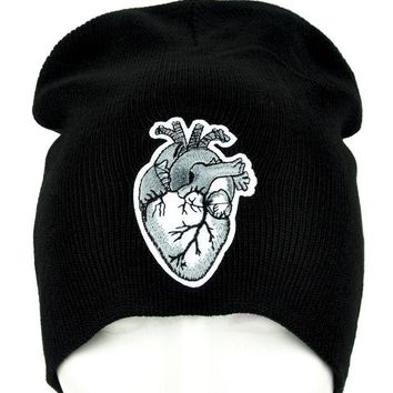 ac spbest Anatomical Human Heart Beanie Occult Clothing Knit Cap