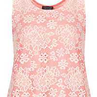 Scallop Lace Vest - Jersey Tops  - Clothing