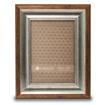 5x7 Tatum Silver And Gold Picture Frame