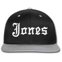 JONES EMBROIDERED beanie or SNAPBACK hat