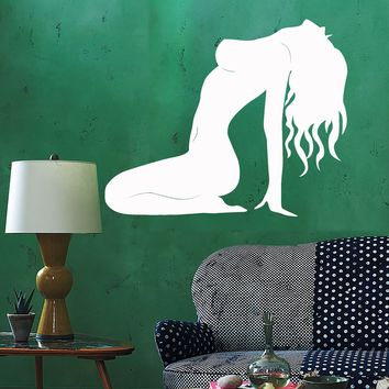 Vinyl Wall Decal Silhouette Hot Sexy Woman Adult Stickers Unique Gift (ig3899)