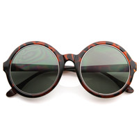 Designer Fashion Womens Oversize Super Round Sunglasses 8620
