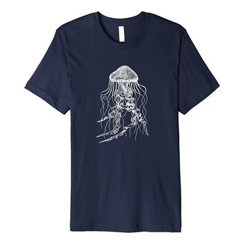 Beautiful Jellyfish T-Shirt Vintage Illustration