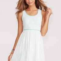 Ivory Mint Lace Dress