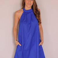 On the Bright Side Dress - Royal Blue