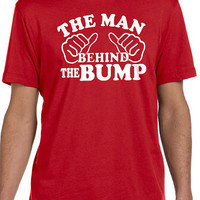 Maternity Gift Husband Gift The Man Behind the Bump Mens T shirt Fathers Day Gift Gift for Dad Maternity Dad to be