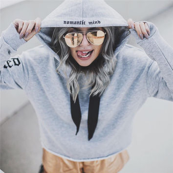 Hoodies Tops Winter Cotton Alphabet Print Hats Women's Fashion Jacket [9245969156]