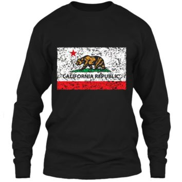 California Republic Cali Flag T-Shirt Socal Norcal Cencal T LS Ultra Cotton Tshirt