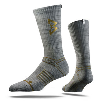 Strideline® 2.0 Beast Mode Grey Gold Marshawn Lynch Limited Crew Socks