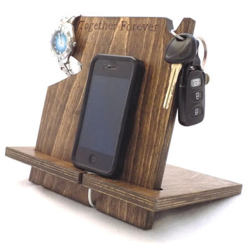 Anniversary Gifts for Men, Fathers Day Gift, iPhone Docking Station, Mens Gift, Birthday Gifts For Him, Boyfriend, Graduation Gift For Him