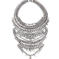 Pre-Order: Silver Ice Queen Statement Necklace