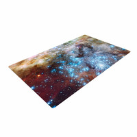 """Suzanne Carter """"Star Cluster"""" Blue Space Woven Area Rug"""