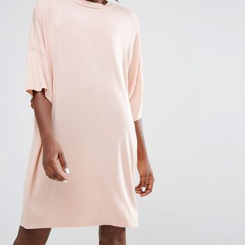 Monki Oversized T-Shirt Midi Dress at asos.com