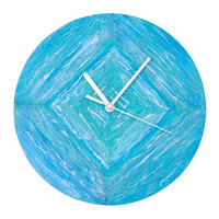 BLUE WALL CLOCK, Beach unique art design wall clock