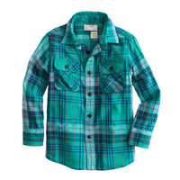 crewcuts Boys Flannel Shirt In Luminary Green Plaid