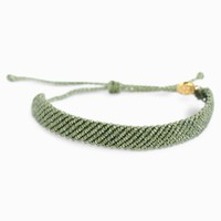 Flat Braided Sage Green