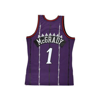 Original NBA Jerseys M&N SWINGMAN Competition Season 1998-99 Retro Jerseys Number 1 Toronto Raptors Tracy Mcgrady Men's Jerseys