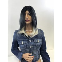 Denim blue gray ombre full wig- Nighttime 1 18 49