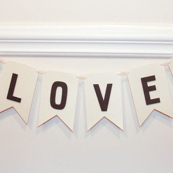 Love Banner-Love with Pink Glitter Hearts-Wedding Banner-wedding sign