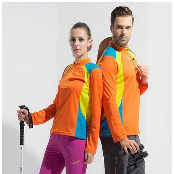 Men / women's hiking shirts, fast - dry T - shirts, breathable long sleeves, outdoor sports shirts, hiking T - shirts, camping e