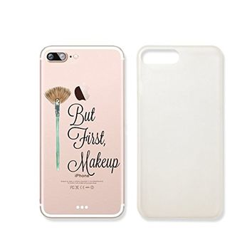 """But First Make Up"" Transparent Plastic Phone Case Phone Cover for iphone 7 _ SUPERTRAMPshop (iphone 7)"