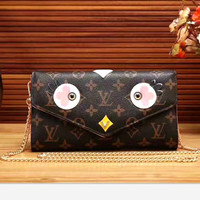 LV Women Shopping Leather Tote Handbag One Shoulder Bag