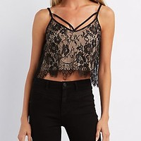 CAGED LACE SWING TANK