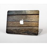 """The Uneven Dark Wooden Planks Skin Set for the Apple MacBook Pro 15"""" with Retina Display"""