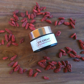 Natural Eye Cream, Anti Aging Cream, Deep Anti Wrinkle, Goji Berry Antioxidante, Moisturize Lotion, Facial Care Cream, Handmade Apothecary
