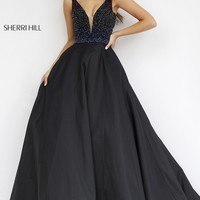 Long V-Neck Formal Gown 32336 by Sherri Hill