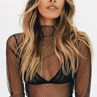 Strength Of A Woman Mesh Top // Diamond