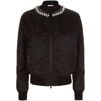 Givenchy Pearl Neck Bomber Jacket | Harrods.com