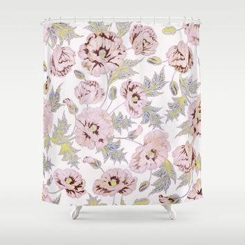 soft poppies Shower Curtain by Clemm