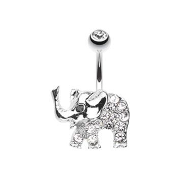 Baby Elephant Walk Belly Button Ring Navel Ring Body Jewelry