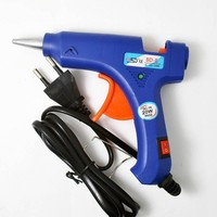 Blue mini High Temp Heater 20W Electric Heating Hot Melt Glue Gun Sticks Trigger Art Graft Repair Heat Pneumatic Tool