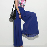 Summer Long Wide Chiffon Pants