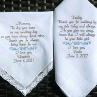 Wedding gifts from bride discovered by canyonembroidery