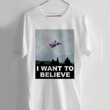 Super Grover i want to believe T-shirt Men, Women and Youth