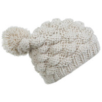Cream Bubble Knit Bobble Hat - View All - New In  - View All