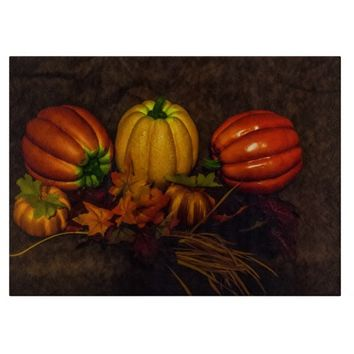 Autumn Pumpkin Glass Cutting Board