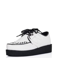 Spy Love Buy Josephine Lace Up Flat Platform Creeper Sneaker Pumps