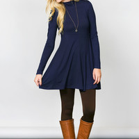 High Neck Tunic Dress