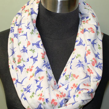 Light Knit, Blue Bird Infinity Scarf